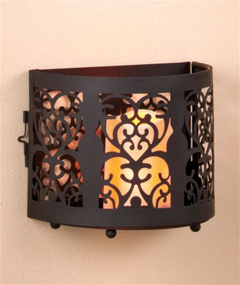 large battery operated flickering led light wall sconce