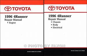 1996 Toyota 4runner Repair Shop Manual Original