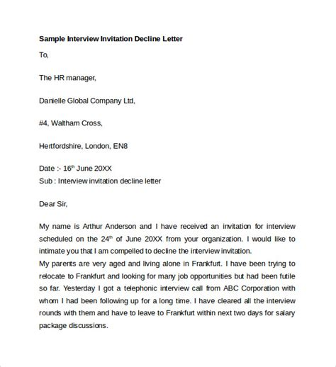 sample letter  explanation   ms word