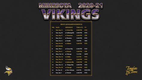 minnesota vikings wallpaper schedule