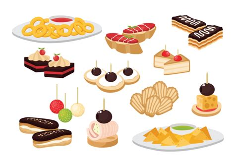 canap victor canape snacks appetizer vector free vector