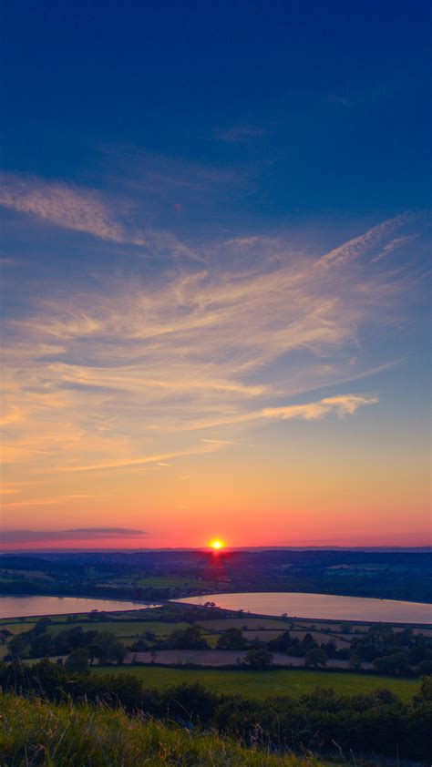 ni sunset peace land sky blue nature wallpaper