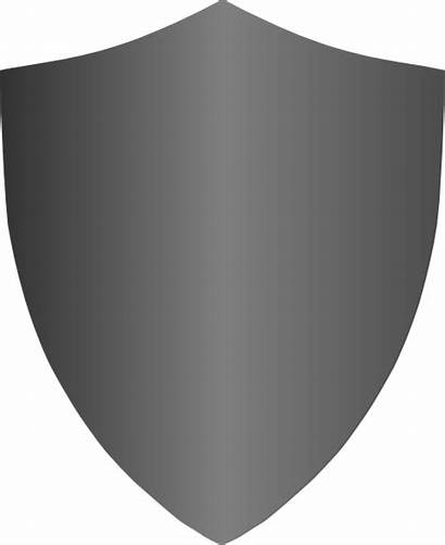 Shield Gray Clip Clipart Vector Clker