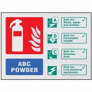 ABC Powder extinguisher visual impact sign - 51233 ...