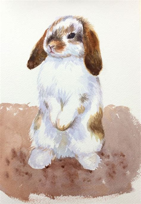 painting ideas bunny rabbit  easy visual step  step