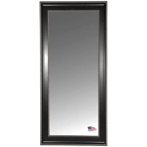 floor mirror black floor mirror black silver caged trim frame dcg stores