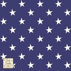 White Stars on Blue Cotton Spandex Knit Fabric | Blue ...