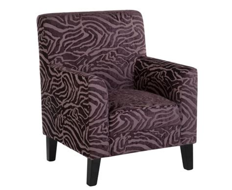 monika purple animal print occasional chair