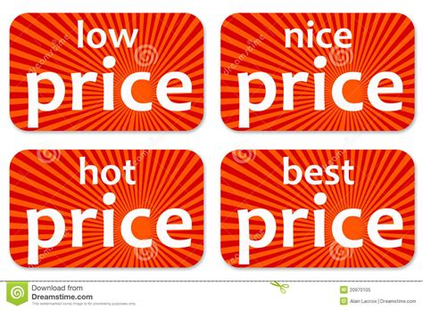 Prices Stock Illustration. Image Of Discount, Button