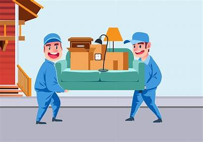 Movers Vector Moving Carrying Sofa Move Vectors