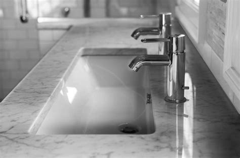 Single Sink With Two Faucets by 2 Faucets On 1 Sink Transitional Bathroom Cory Connor