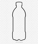 Coloring Water Bottle Clipart Plastic Glass Pngio sketch template
