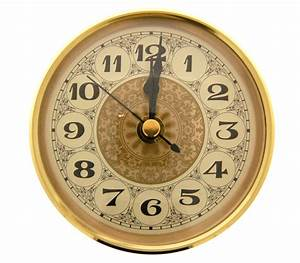 Deluxe, 90mm, Insert, Clock, Gold, Aluminium, Bezel, With, Glass, Fancy, Arabic, Dial
