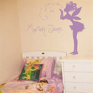 Fairy decals for walls fairy dandelion wand wall decal for Fairy wall decals