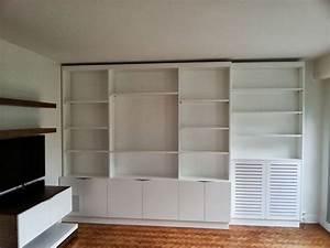 Caisson Bibliotheque Modulable : meuble biblioth que sur mesure avec cache radiateur et ~ Edinachiropracticcenter.com Idées de Décoration