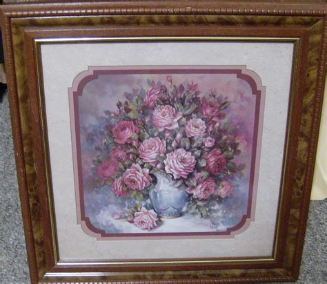home interiors ebay homco home interiors retired 18 5 quot picture roses blue vase