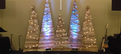 simple trees church stage design ideas