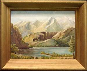 Mitchell Original Oil Painting Mountain Hand Signed Make
