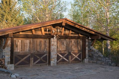 log carport garage rustic with low pitch roof traditional wall sculptures