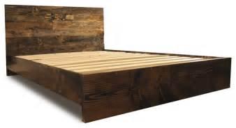 platform bed frame and headboard set dark walnut california king modern beds by pereida