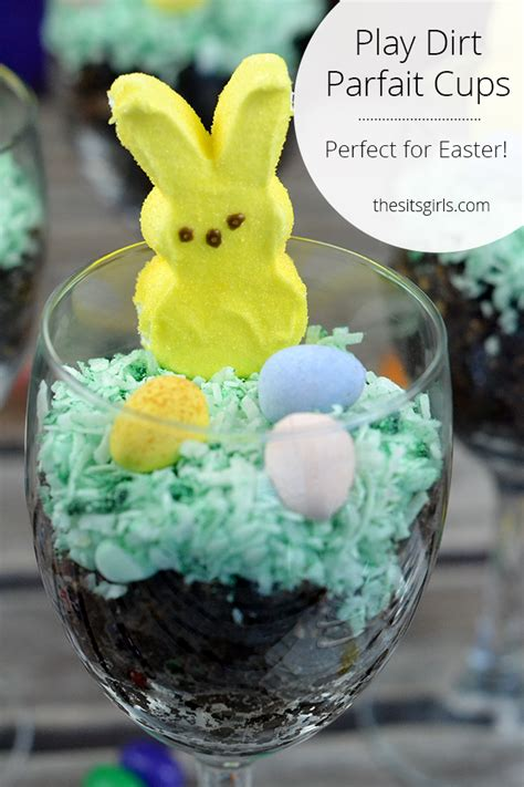 easter bunny dirt cups play dirt cake parfait