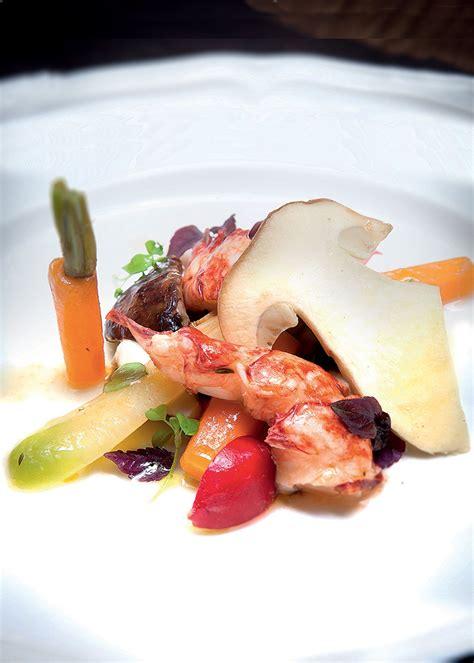 yuzu cuisine homard bleu légumes croquants vnaigrette yuzu