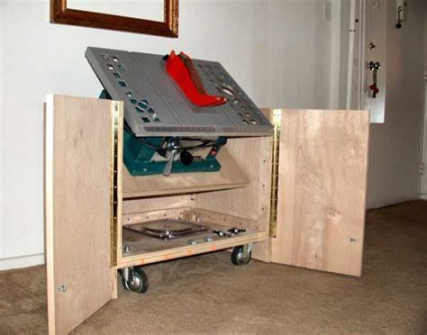 Cabinet Table Saw Used by Table Saw Cabinet Woodworking Plans