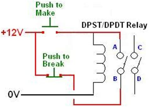 Wiring Pin Dpdt Relay For Two Button Off Control