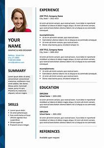 dalston free resume template microsoft word blue layout With free resume outlines microsoft word