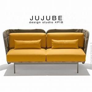 Coussin Pour Canape Exterieur : fauteuil design pour ext rieur jujube structure acier peint assise avec coussin ~ Teatrodelosmanantiales.com Idées de Décoration