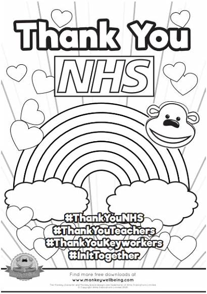 Nhs Thank Posters Poster Monkey Leaflets Thanking