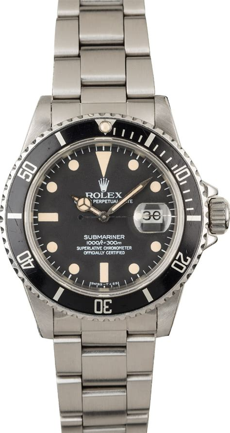 Buy Used Rolex Submariner 16800 | Bob's Watches - Sku: 121695