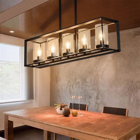 Contemporary Island Lights by Contemporary Black Metal Frame 5 Light Kitchen Island