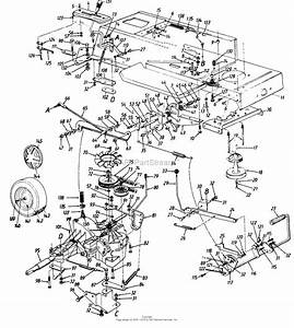 Mtd 134n604f401  1994  Parts Diagram For Drive  Frame