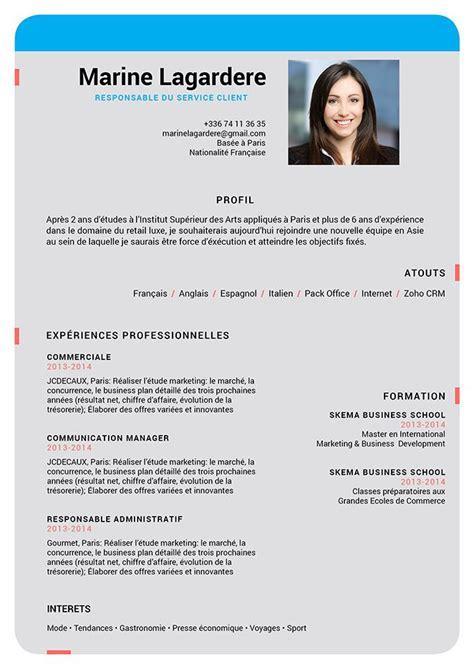 Modele De Cv En Ligne by Un Cv Parfait Des Cv En Ligne 183 Mycvfactory