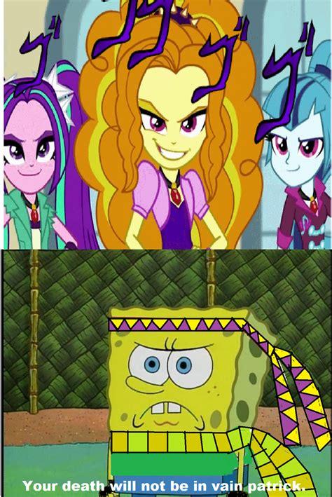 Spongebob Jojo Memes - spongebob versus the dazzlings jojo version by brandonale on deviantart