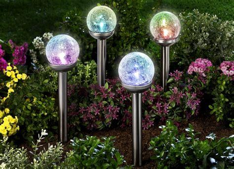 Design Solarleuchten Garten by Regenbogenleuchten 4er Set Gartenbeleuchtung Brigitte