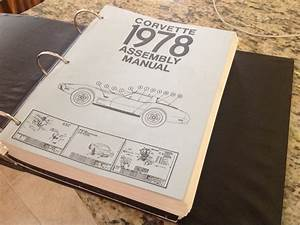 1978 Chevrolet Corvette Assembly Manual