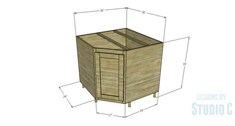 how to build a corner kitchen cabinet a corner base cabinet for a kitchen remodel