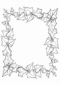 Feuilles D Automne à Imprimer : coloriage cadre photo en feuilles d 39 automne ~ Nature-et-papiers.com Idées de Décoration