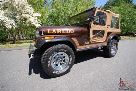 dark brown jeep 1986 jeep cj7 laredo 9800 original miles auto w original a c