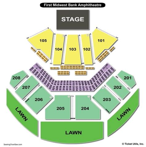 hollywood casino amphitheatre tinley park seating chart seating charts