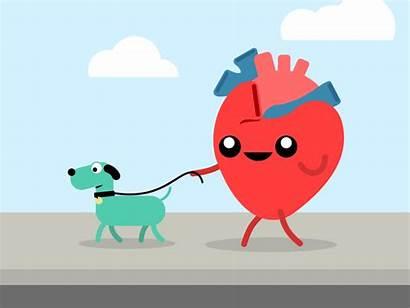 Heart Healthy Health Dog Walk Dribbble Cycle