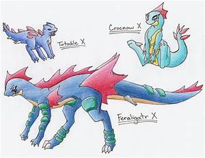 Totodile Evolution Series X By Celestialtentails On Deviantart