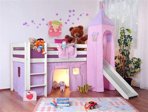 chambre fille avec lit superposé lit surélevé enfant lilla