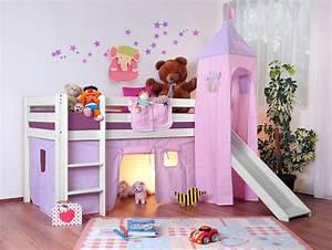 Lit Mezzanine Pour Enfant : lit sur lev enfant lilla rose ~ Teatrodelosmanantiales.com Idées de Décoration