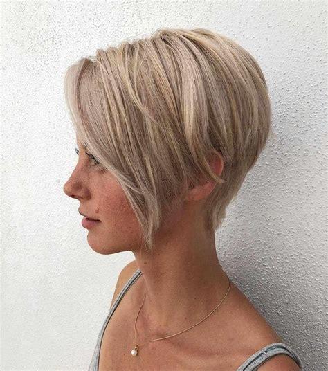 layered short haircuts  women  fine hair