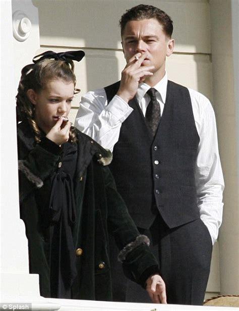 Leonardo Dicaprio Teaches Young Girl To Smoke On J Edgar