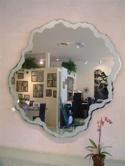 bathroom mirror decorative mirror sea foam border