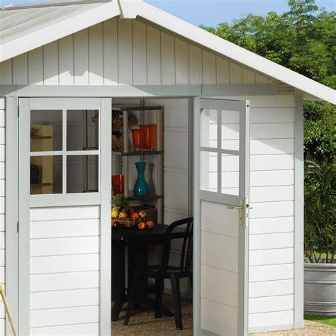 gartenhaus kunststoff grosfillex gartenhaus aus kunststoff 11 2m 178 deco wei 223 graugr 252 n